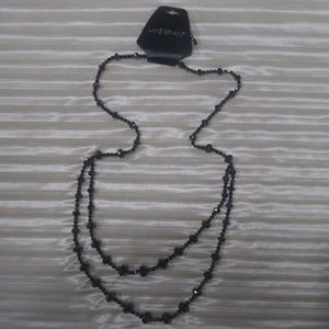 Lane Bryant long crystal bead necklace